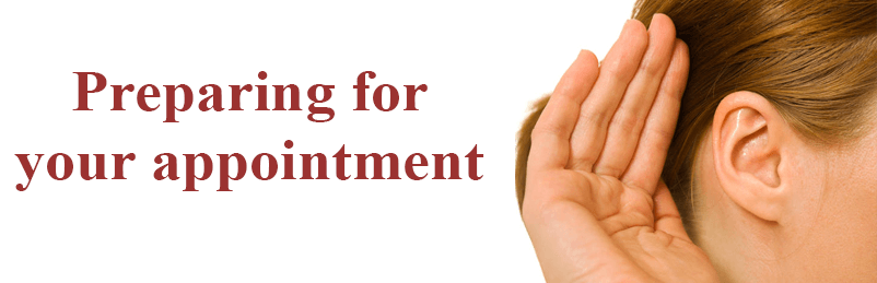 prepering for your appointment